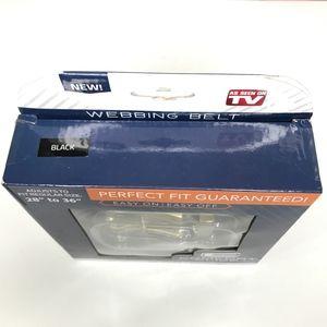 Comfort Click Accessories - NWT Comfort Click BLK Webbing Ratchet Belt A000668
